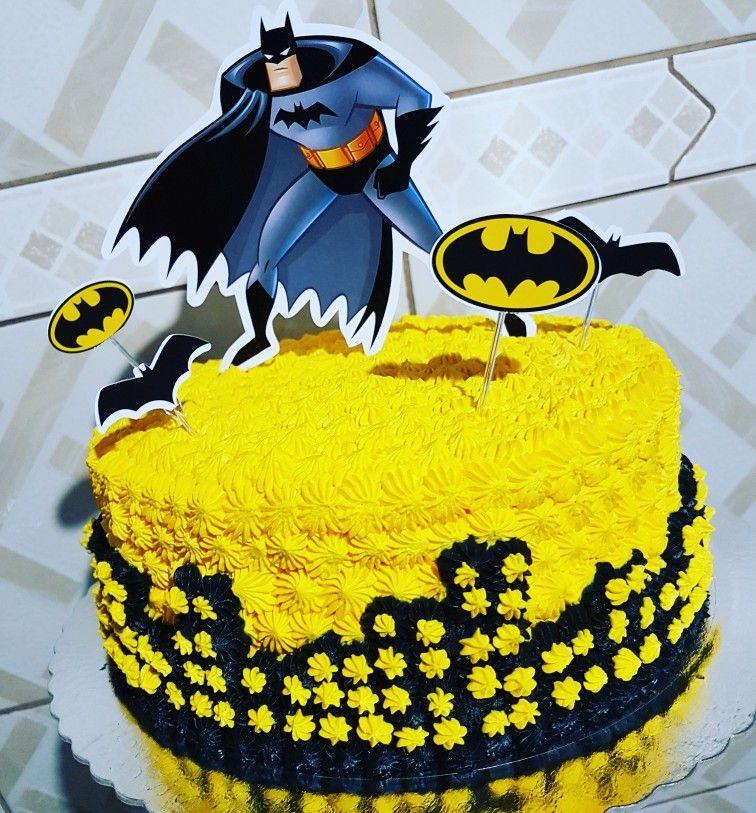 Bolo Do Batman De Chantilly Bolosdecorados Festainfantil