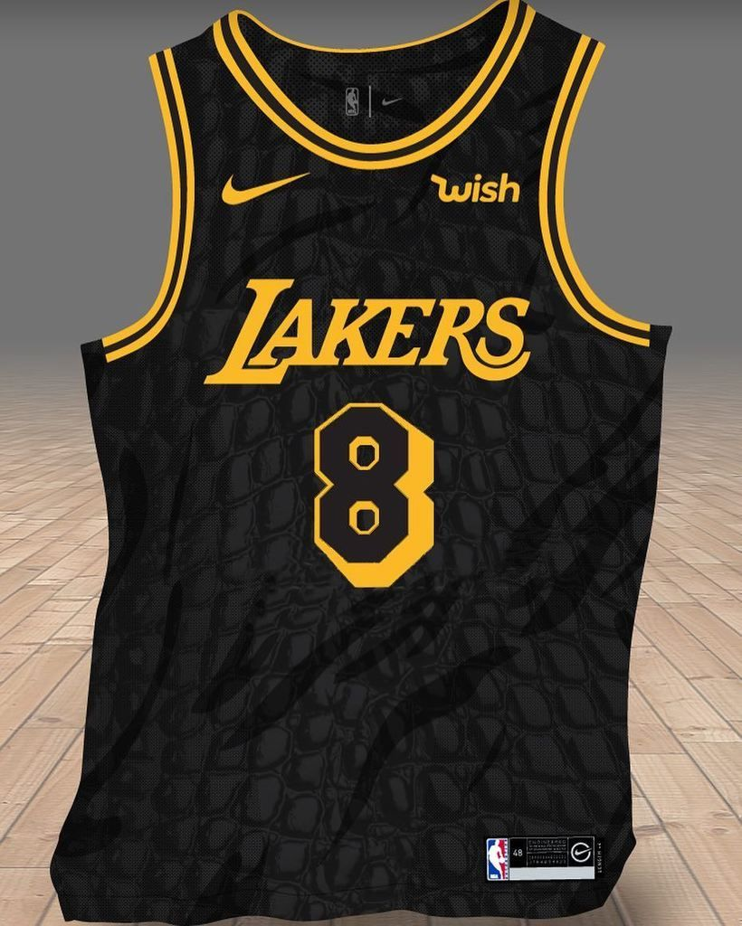This mock-up of the rumored  Lakers special jersey by  Nike for   KobeBryant s jerseys retirement day looks pretty sweet! All black with  Black Mamba scales  73760786577