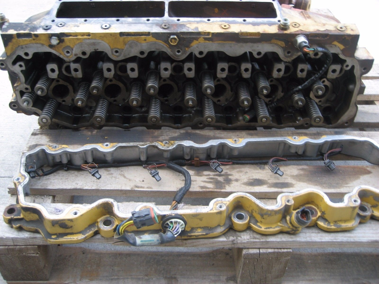 hight resolution of cat c7 engine cylinder head push rods rocker arm assembly injector harness ebay link