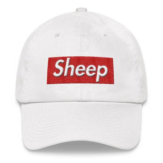 Sheep Supreme Cap Box Logo Idubbbz Parody Hat  a12a9bc8431