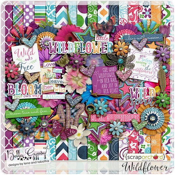 Wildflower by Bella Gypsy Designs #digiscrap, #bellagypsy
