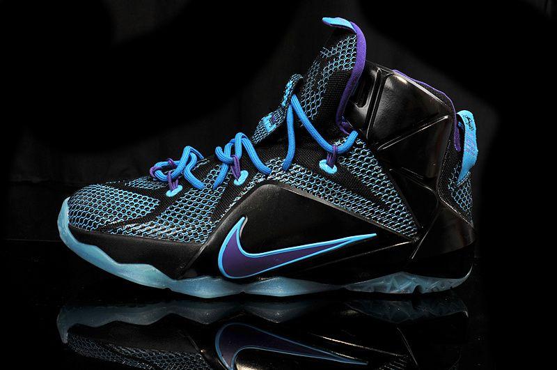 lebron shoes | Nike LeBron 12 kid shoes Custom Blue Black