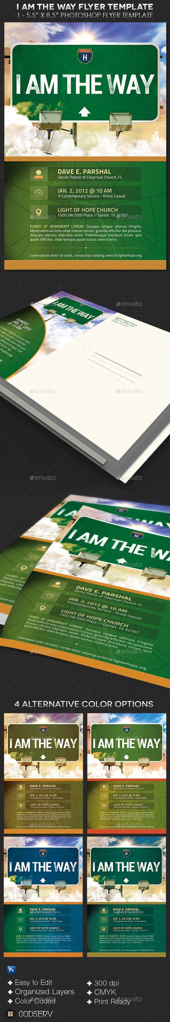 Way Church Flyer Postcard Template
