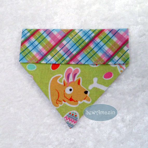 Easter Puppies Over-the-Collar Dog Bandana Easter Dog by @sewamazin #ButterflysPin