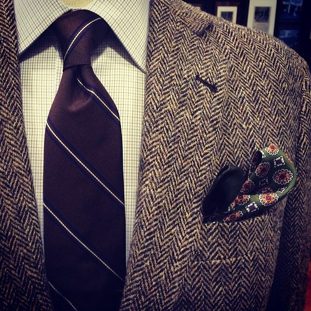 The winter may still be bitter, but that doesn't mean you have to be. Embrace your favorite Donegal or Harris Tweed looks before they're resigned to your cedar closet for the better part of the year. #Padgram