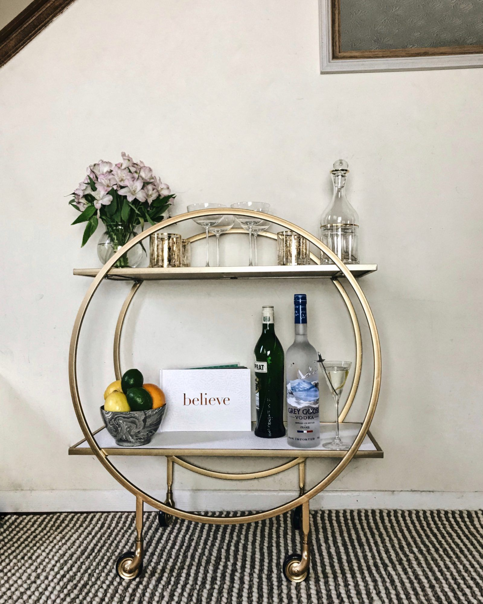 Grey Goose Martini Recipe Z Gallerie Russo Bar Cart