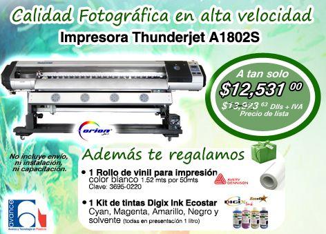 Calidad fotográfica en alta velocidad con la impresora THUNDERJET A1802S