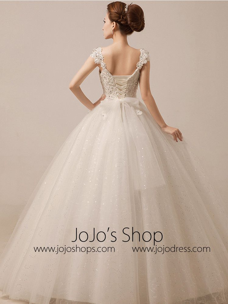 Sparkly Debutante Ball Dress Wedding Dress with Crystal Rhinstones ...