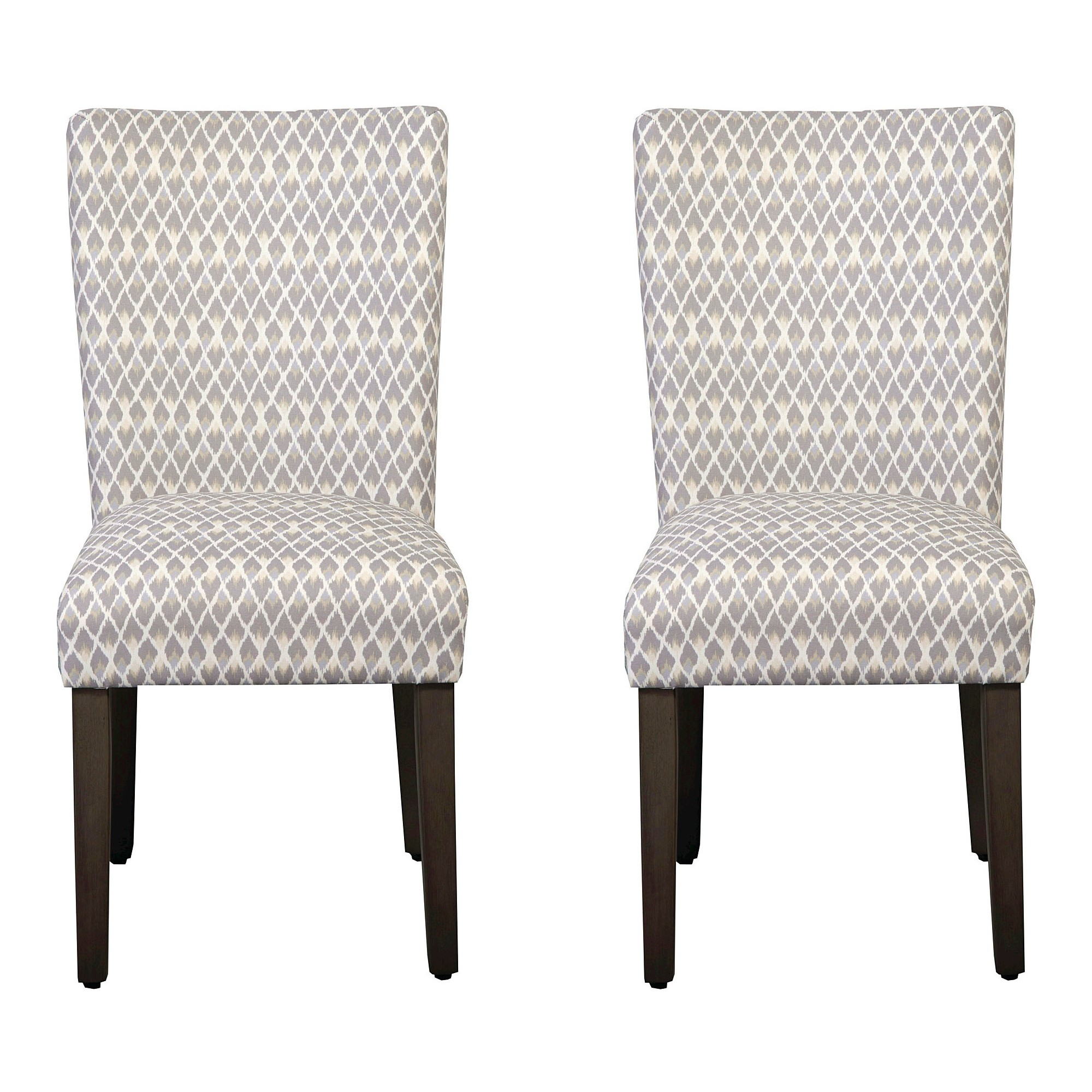 Parson Dining Chair Wood/Gray Diamond (Set of 2) - HomePop ...