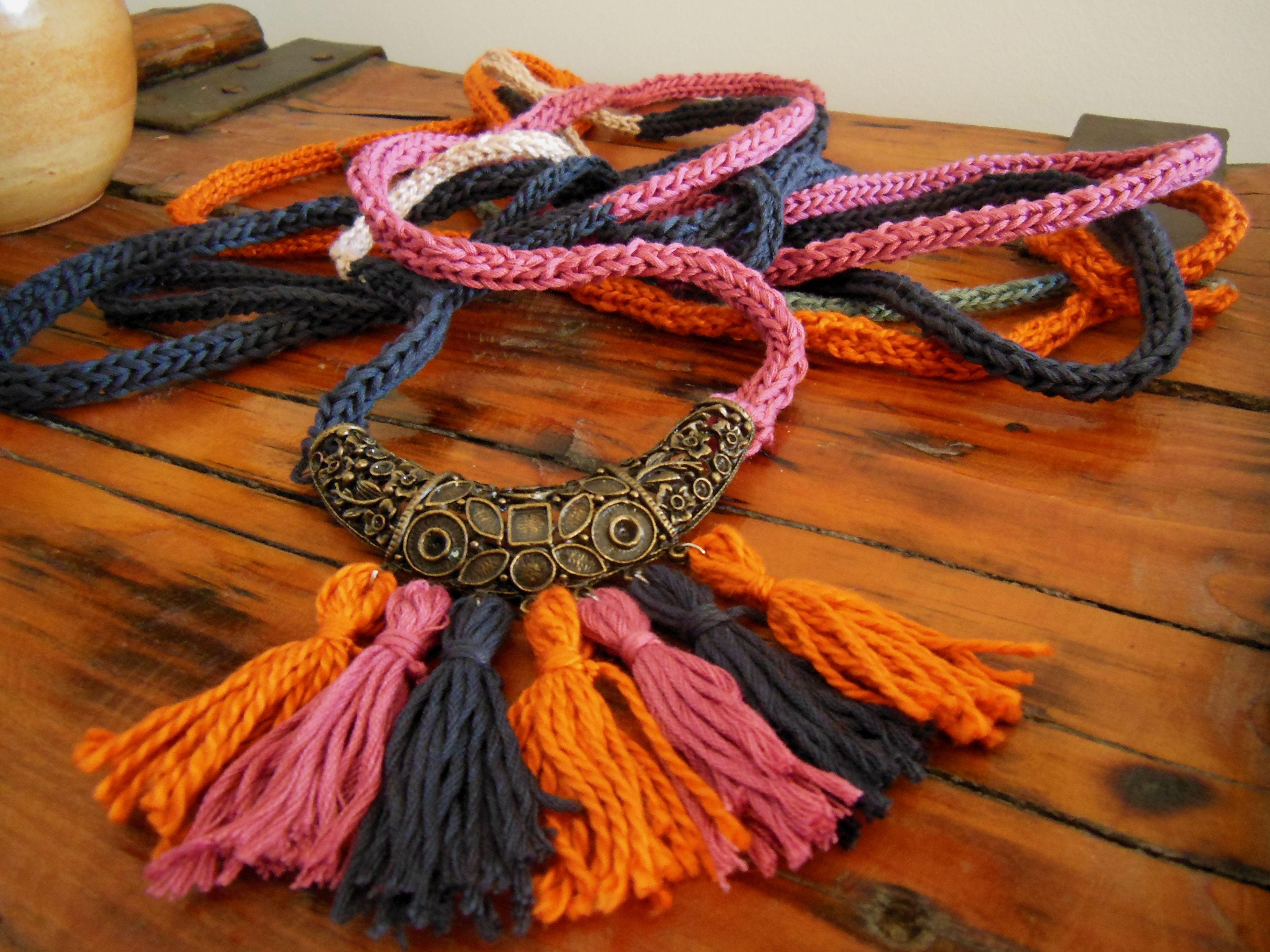 corda maglia..collana di cotone