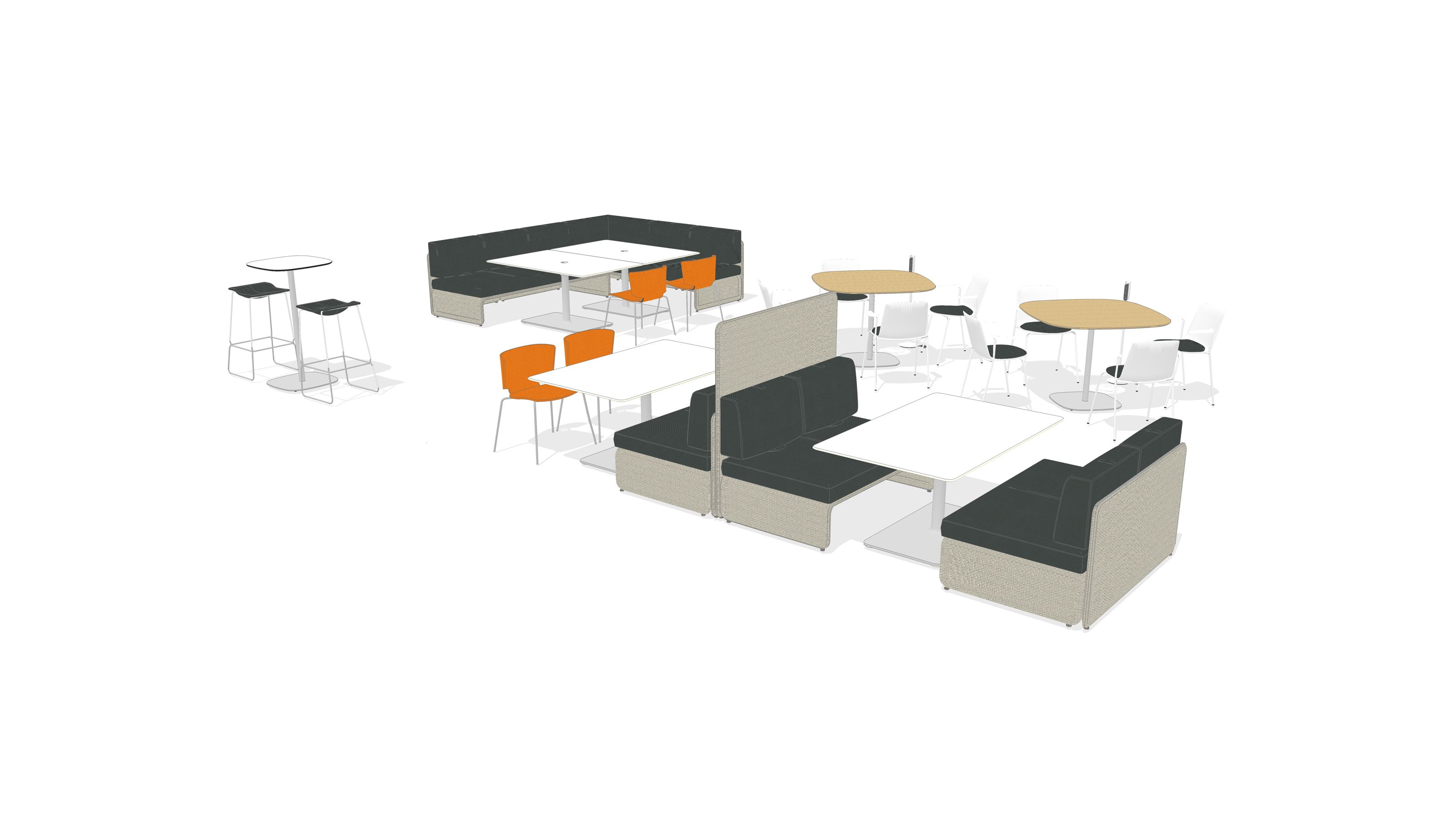 With a range of settings and postures, this is a great place for individuals to socialize with others, eat and
