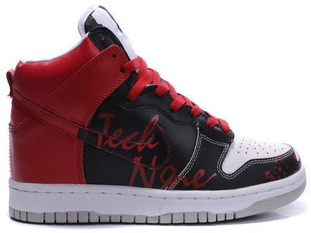 promo code 3660a c0f49 Nike Dunk High Customs Killer Red White Black