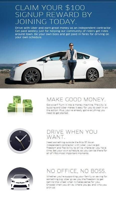 Drive With Uber And Earn Cash With Your Car Plus Right Now Uber Is Offering New Drivers Up To 100 To Get Started Uber Makemo Uber Driving Earn Cash Uber