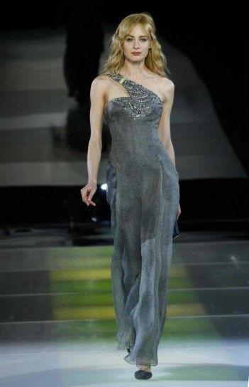 Vestiti Cerimonia Armani.Abito Grigio Da Sera Giorgio Armani Beautiful Party Dresses