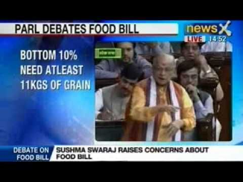 """Ambitious Food Security Bill as nothing but a 'Vote Security Bill'. """"This is not a Food Security Bill, it is a Vote Security Bill. The Government took four years to come up with the Food Security Bill, and I thought it would be an extensive bill,"""" he said in the Lok Sabha here today."""