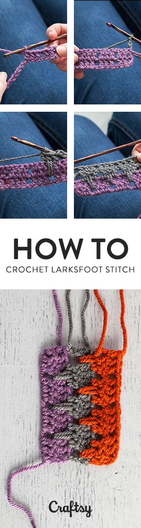 Larksfoot Stitch Step By Step Crochet Stitch Tutorial Häkelmuster