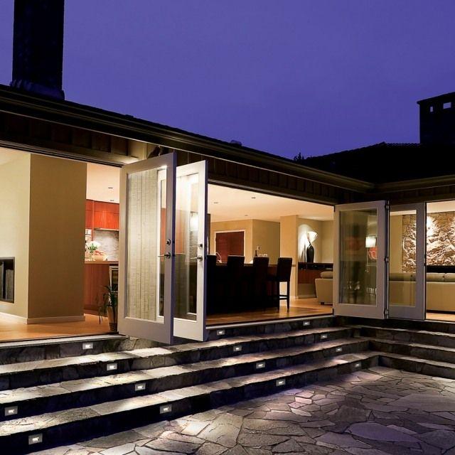 treppenstufen beleuchten außen stein treppenstufen terrasse ...