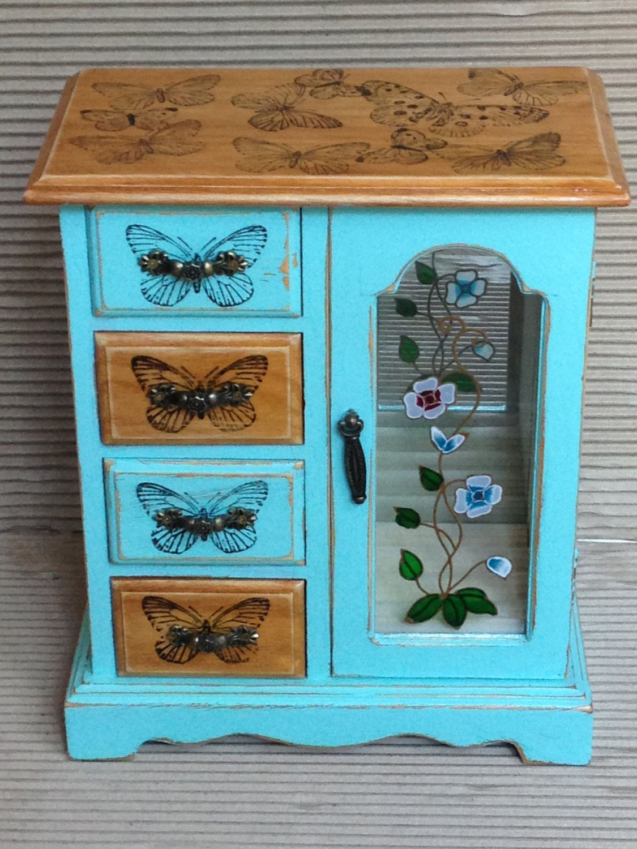 jewellery box jewelry box reworked wooden jewellery box shabby