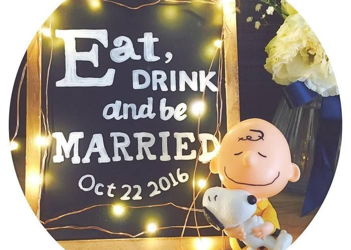 結婚式を楽しんでもらうための新定番フレーズ♡『Eat,Drink and Be Married』って知ってる?のトップ画像