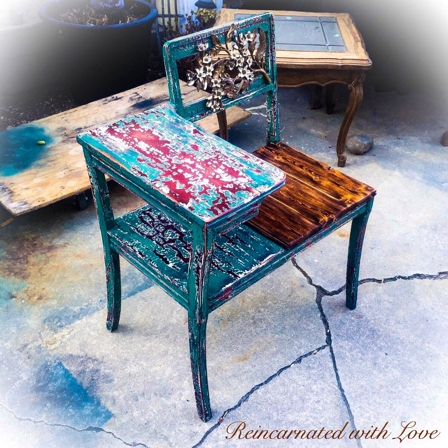 Antique gossip bench from reincarnated with love