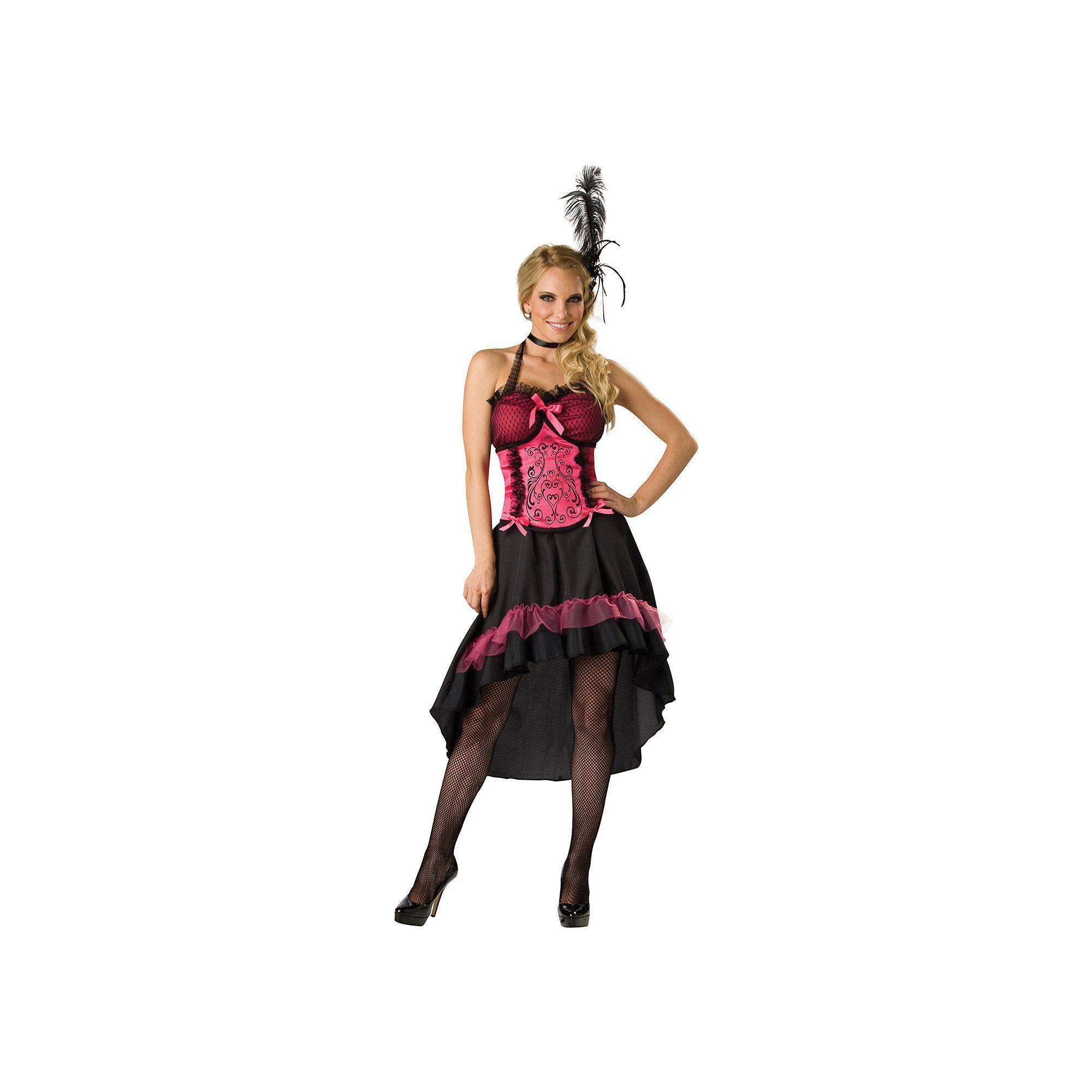 Womens Renaissance Costume Burlesque Dancer Flapper Can Can Fancy Dress Adult