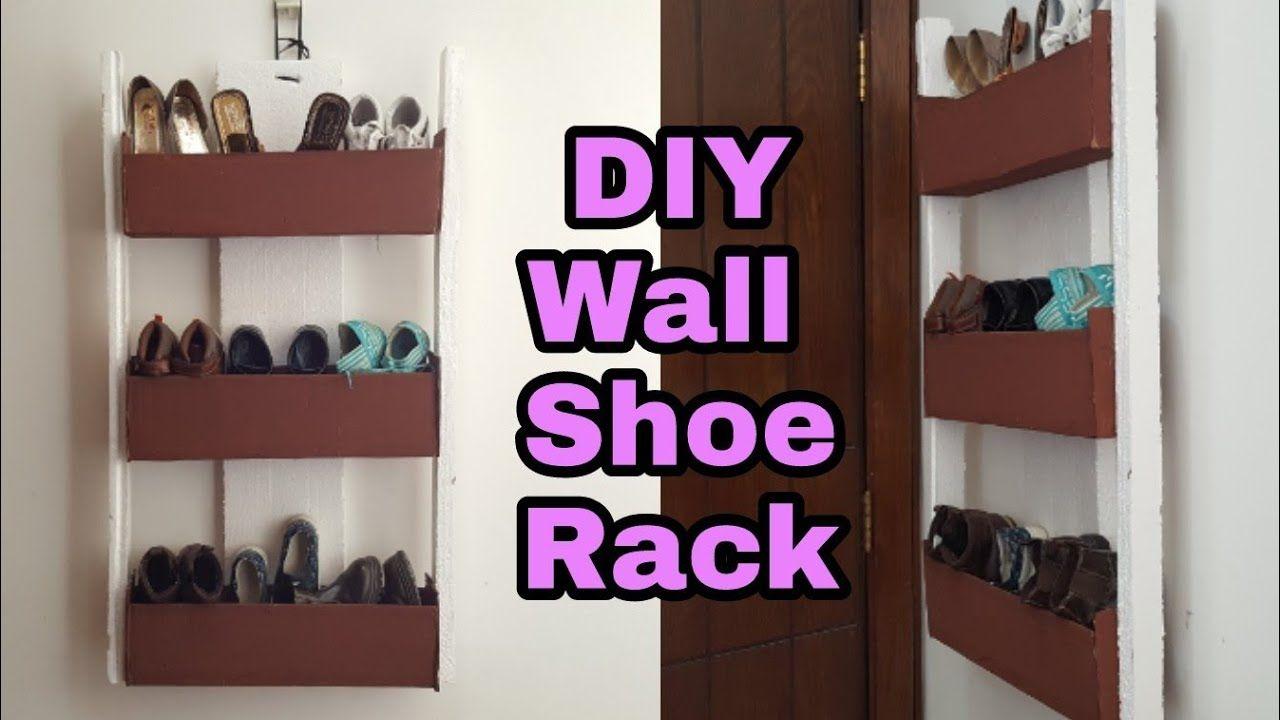 Diy How To Cardboard Shoe Rack Cardboard Shoe Organizer Wall