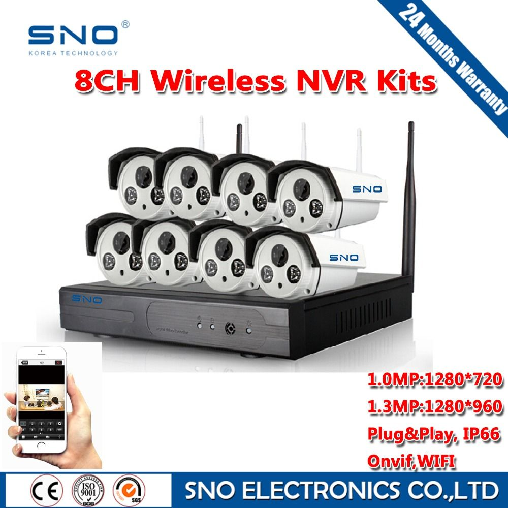SNO 8CH IR HD Home Security Wifi Wireless IP Camera System 720P 960P ...