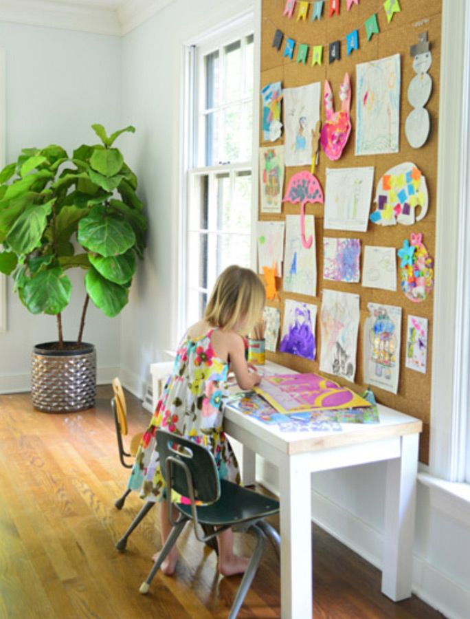inspiring homework area ideas to steal art display kids on inspiring workspace with a cork wall creating a custom cork board for your home id=31304