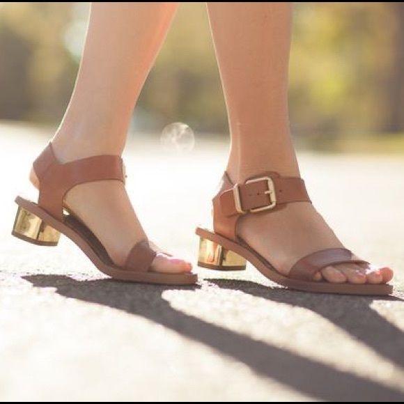 Heel New Sam Gold Edelman Sandal Cognac Tan Like Trina 8knwX0OP