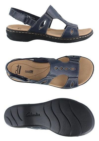 d0337379961 Sandals and Flip Flops 62107  Clarks Leisa Lakelyn Leather Womens Sandal  Low Heel Shoes Low Heel -  BUY IT NOW ONLY   59.97 on eBay!