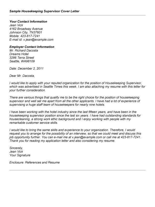 Security Supervisor Cover Letter Cover Letter For Resume Cover Letter Resume Template