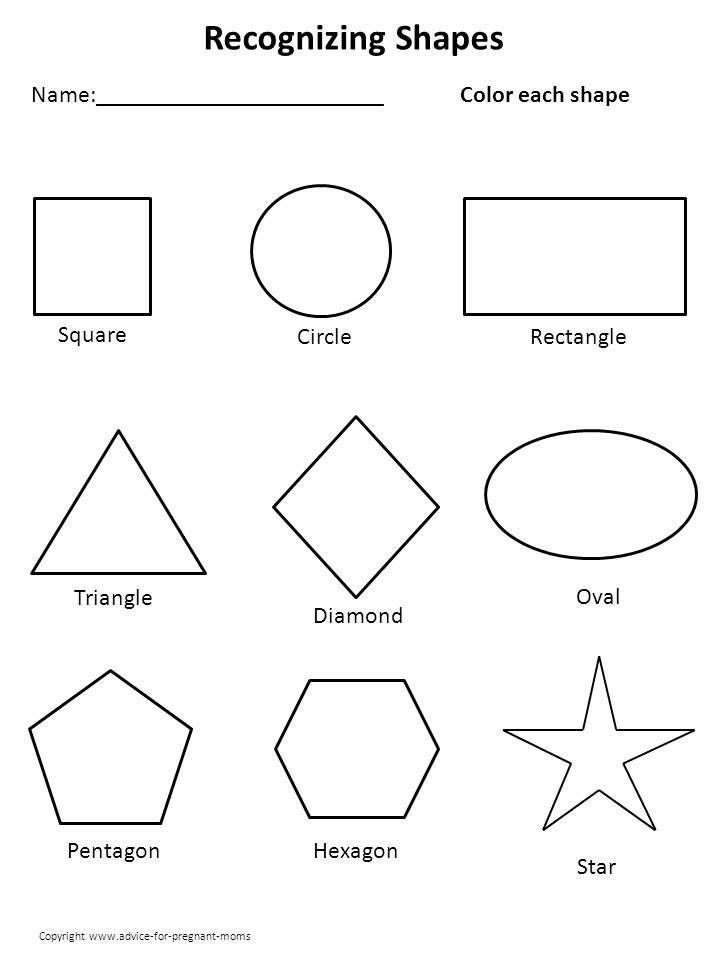 Resultado de imagen para shapes templates to print free ...