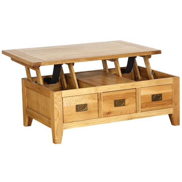 Charming Yorkshire Oak Coffee Table With 3 Drawers And Lift Up Top. We Had One Of