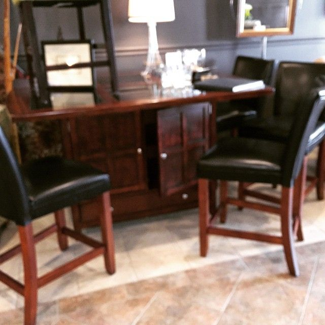 Pub Table, Storage, Granite Top With 4 Chairs!