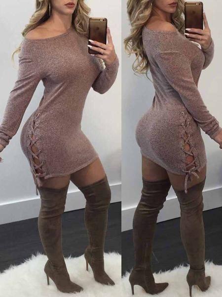 Fashion Lace-up Mini Dress | Fashion in 2019 | Club ...