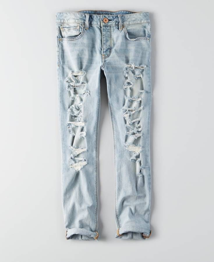 f9d01429642 AEO Tomgirl Jeans, Women's, Faded Super Rip Torn | *Clothing ...