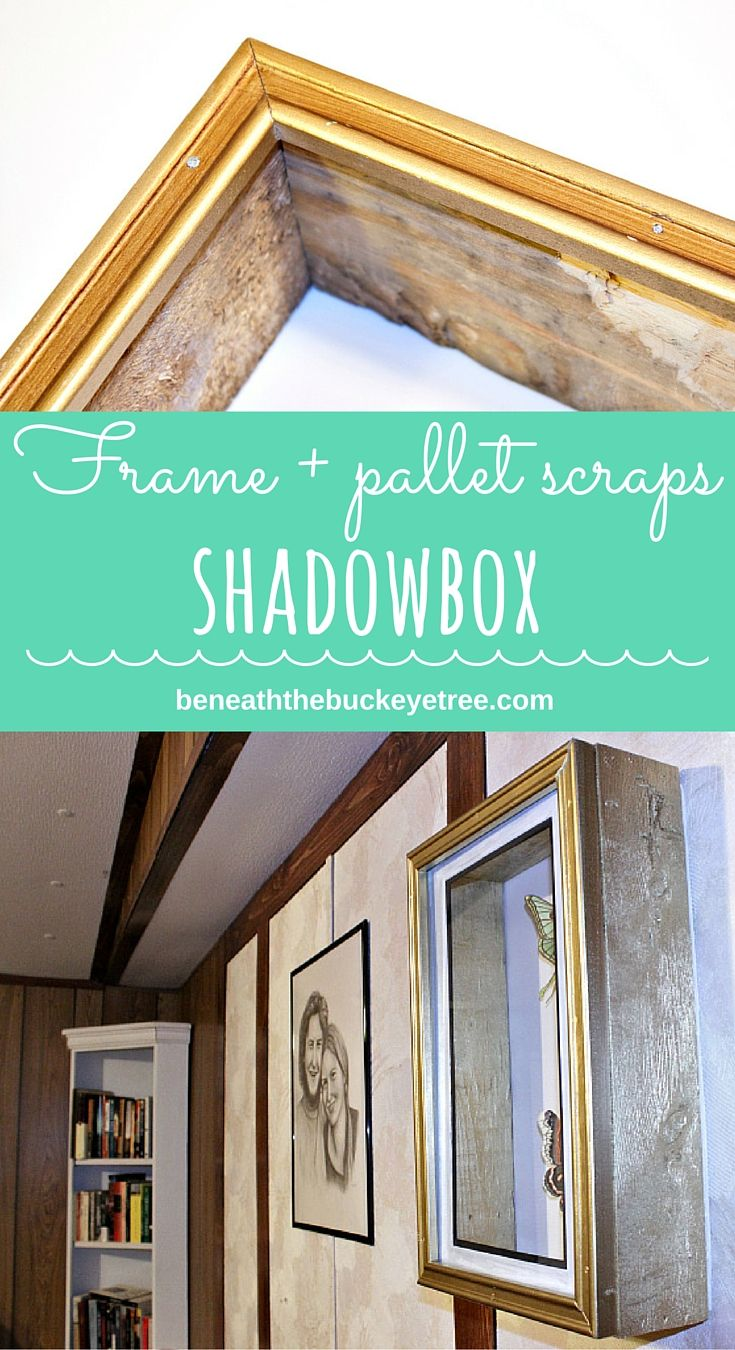 Shadowbox made from an old picture frame and pallet wood scraps frame pallet scraps shadowbox shadowboxes from the store are so cute but so expensive jeuxipadfo Images