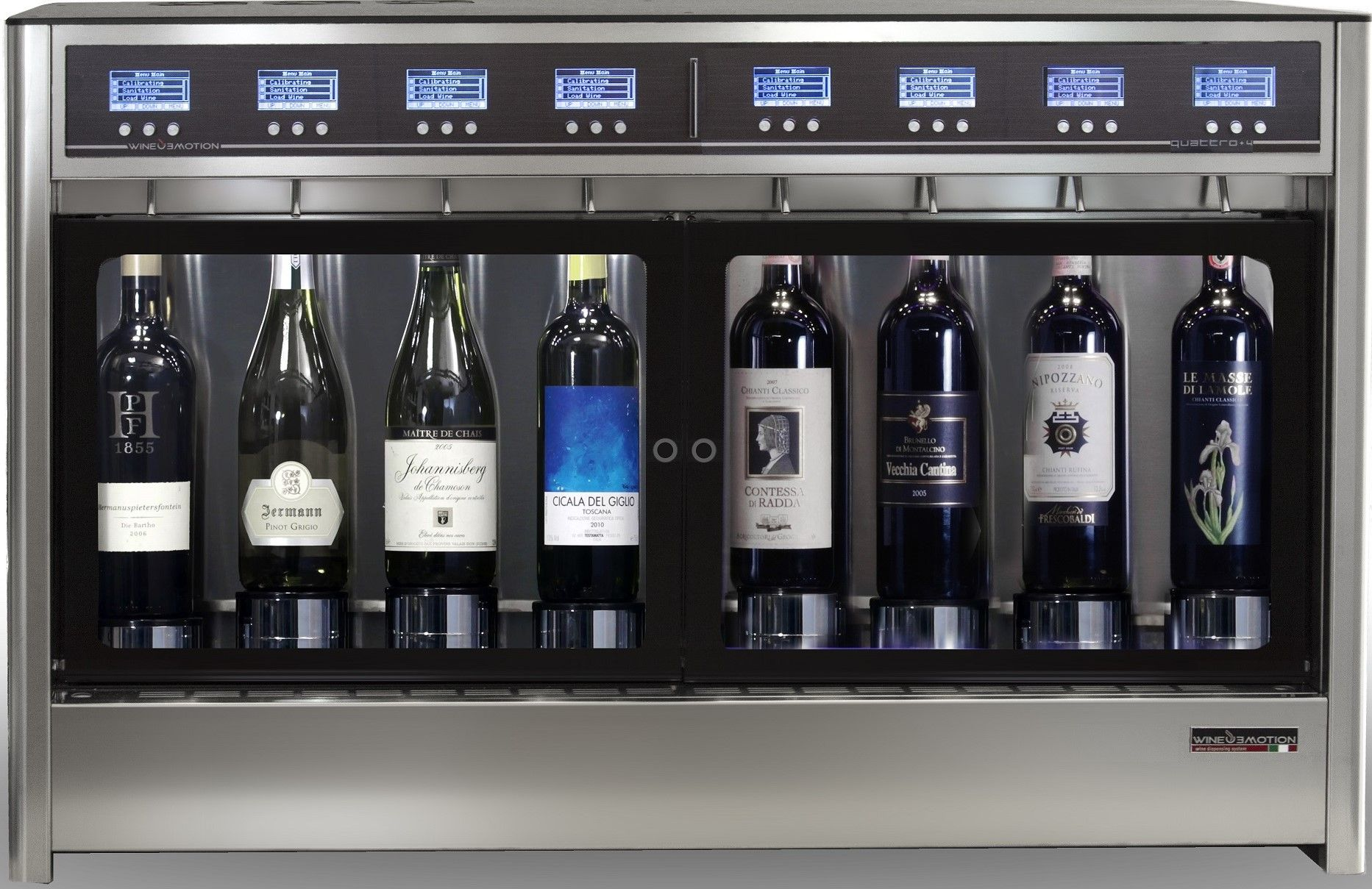 8 Bottle Dual Temperature Model For 4 White Wines And 4 Red Wines Simultaneously Perfectly Preserved And Dispensed At Correct Te Wine Dispenser Wine Dispenser