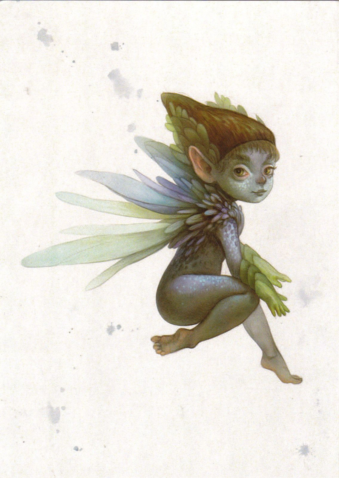 VERY RARE Blue elf pixie fairy Fantasy by Oxana Fomina Russian modern postcard | eBay