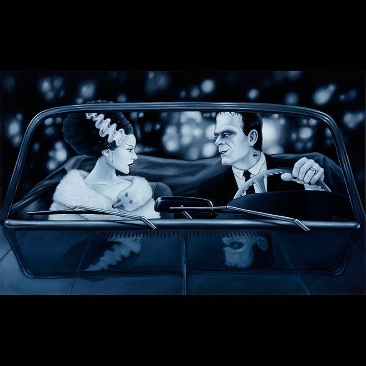 Celebrate National Frankenstein Day With Someone Special Date Night Oil Frankenstein Art Frankenstein Bride Of Frankenstein