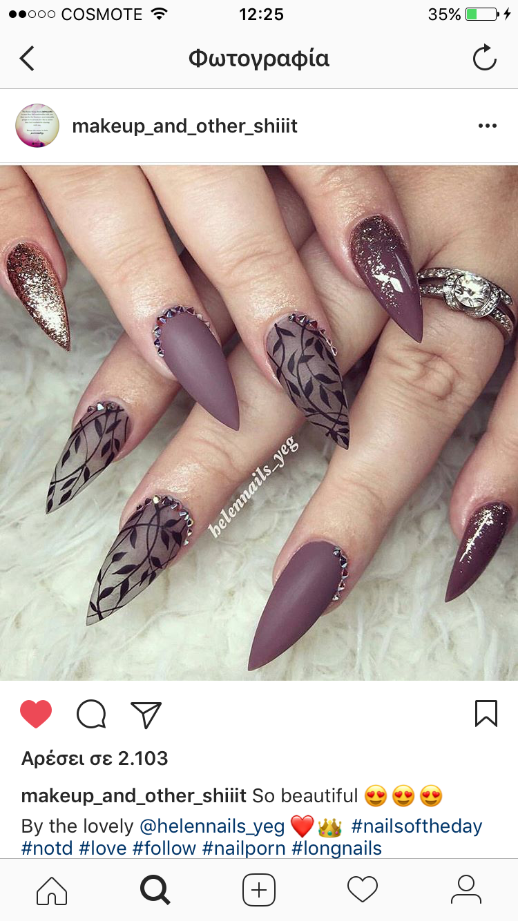 Don\'t like this shape, but the design is caute!! | Nails | Pinterest ...