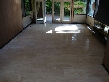 ingenious ivory vein cut travertine. This is our Ivoria 12x24 Vein Cut Polished Travertine tile used in a nice  remodel