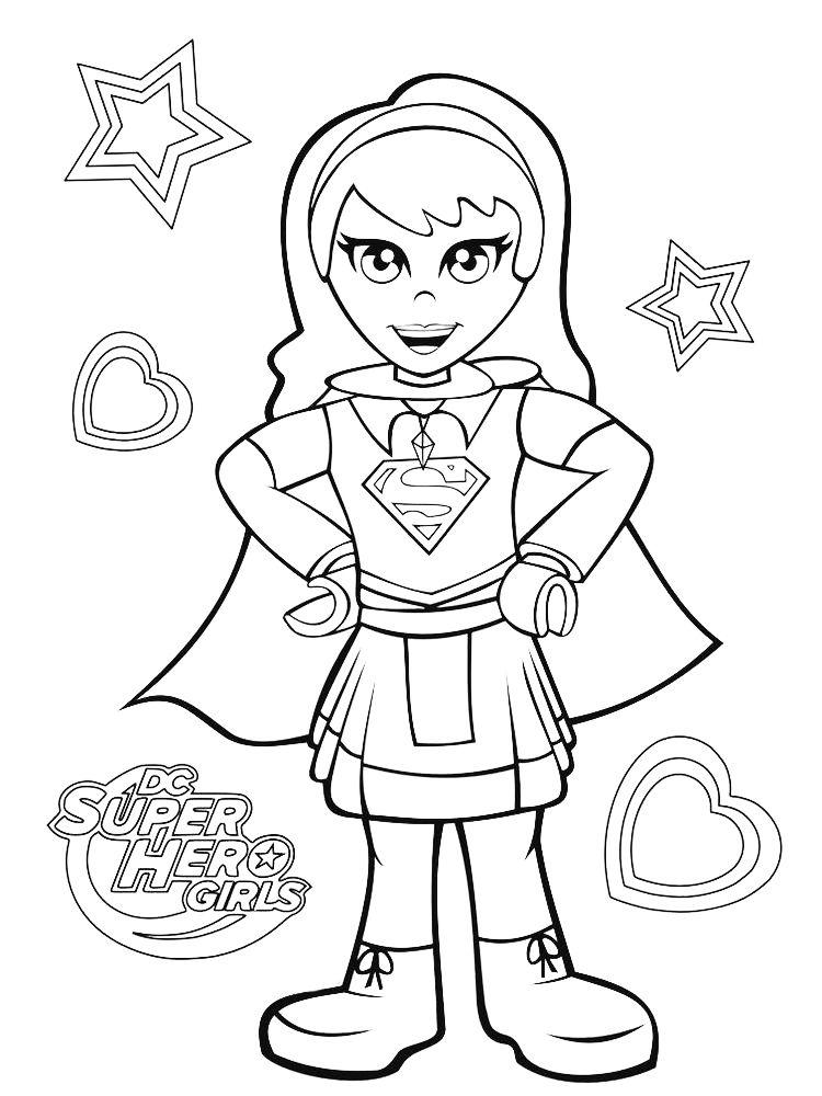 Dc Superhero Girls Coloring Pages Sheet