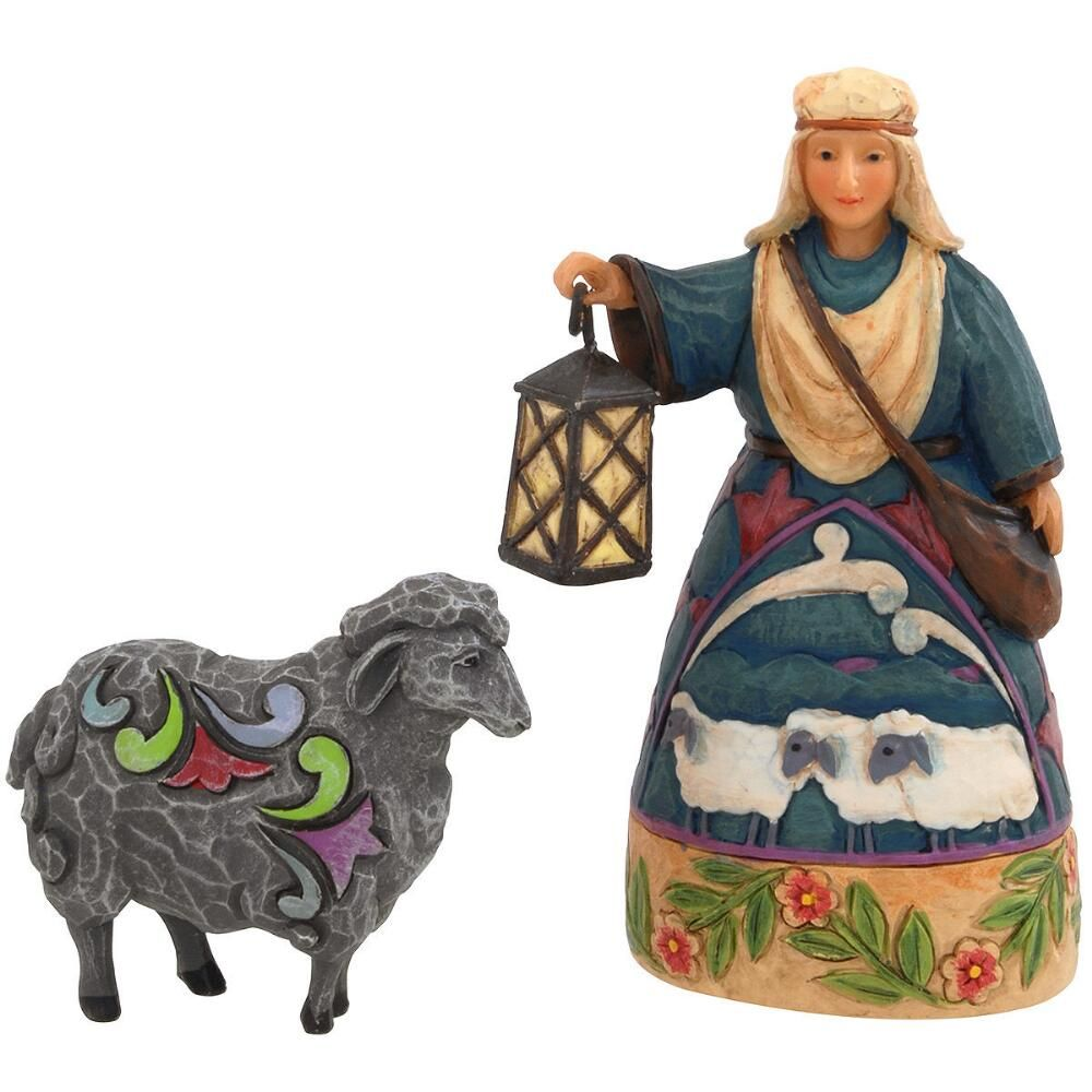 Keeping Watch Jim Shore 2 Piece Mini Nativity With Shepherd And Sheep Reg 28 00 Sale 19 98 Sheep Nativity Jim Shore