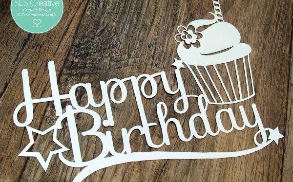 Happy Birthday SLS Creative! – Free Paper Cut Template #lettercakegeburtstag