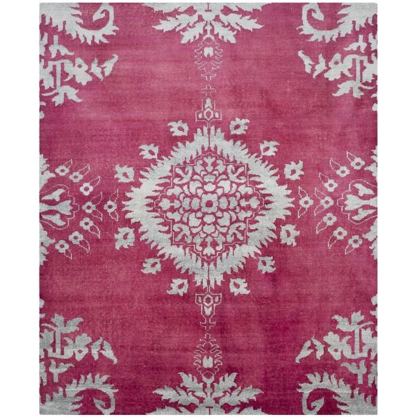 Safavieh Hand-knotted Stone Wash Fuchsia Wool/ Cotton Rug (8' x 10') - Overstock Shopping - Great Deals on Safavieh 7x9 - 10x14 Rugs