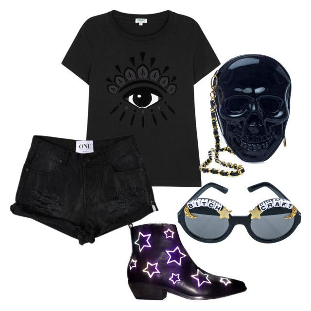 """""""Untitled #1084"""" by artiola-fejza ❤ liked on Polyvore featuring Y.R.U., Kenzo, Loungefly and Rad+Refined"""