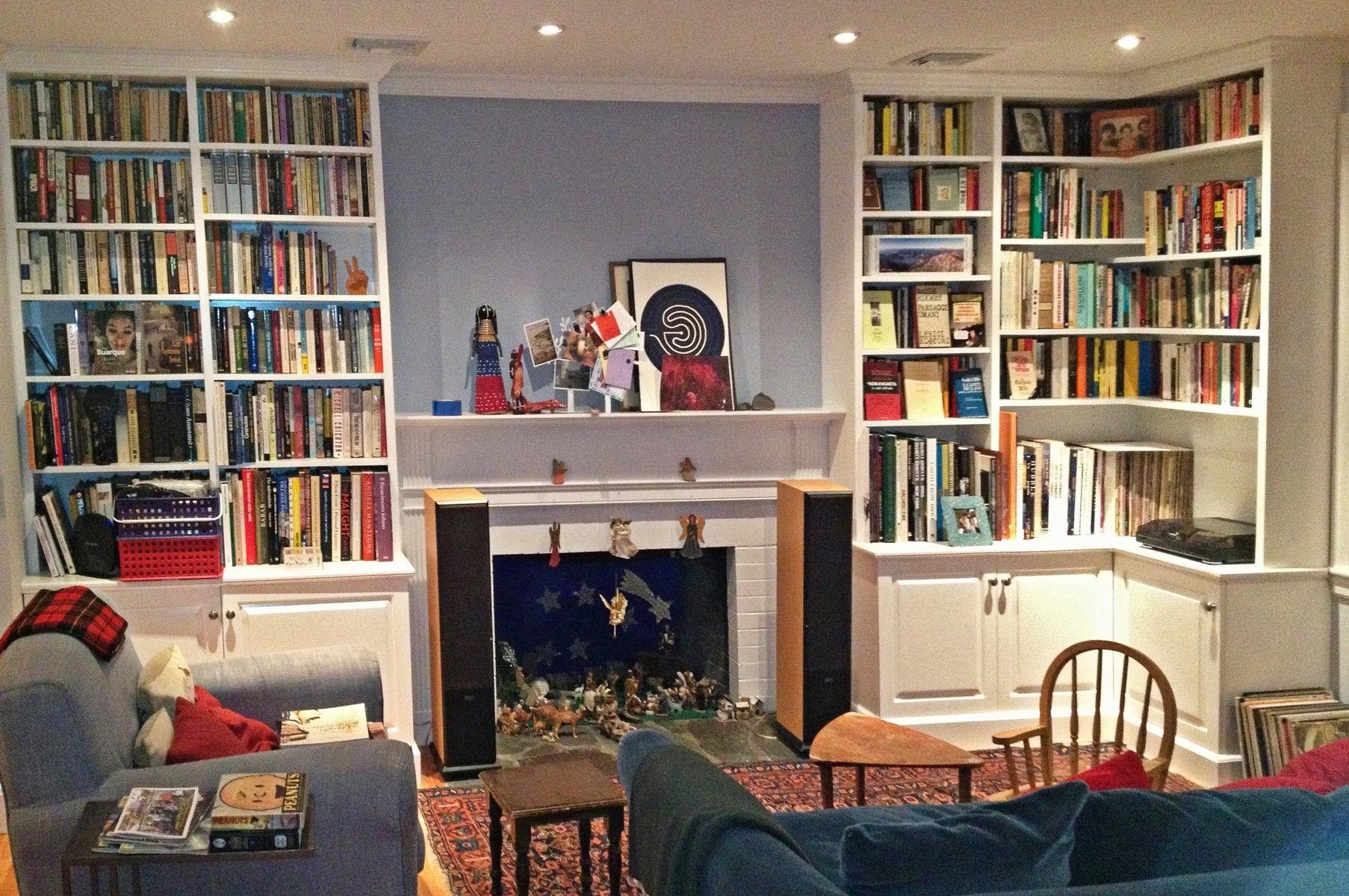 Living Room : White Bookcase Bookshelves Room Designs ...