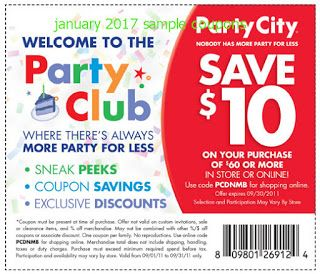 Party City Coupons Party City Free Printable Coupons Party Printables Free