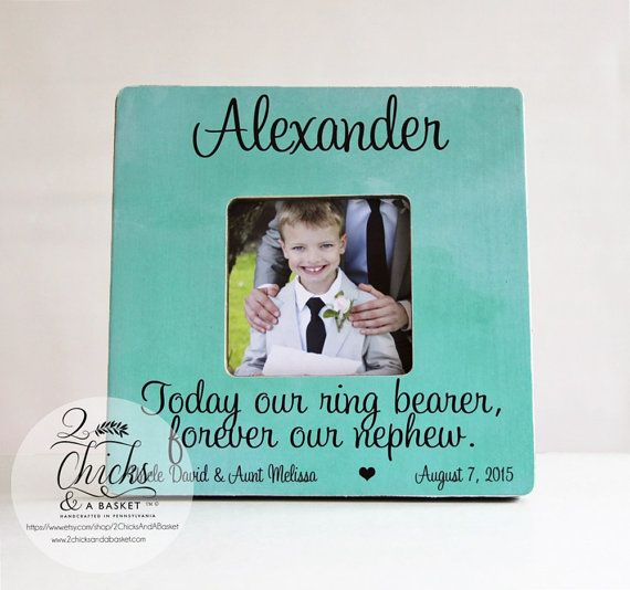 Today Our Ring Bearer Forever Our Nephew Picture Frame, Personalized ...
